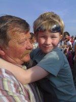 Stijn met opa